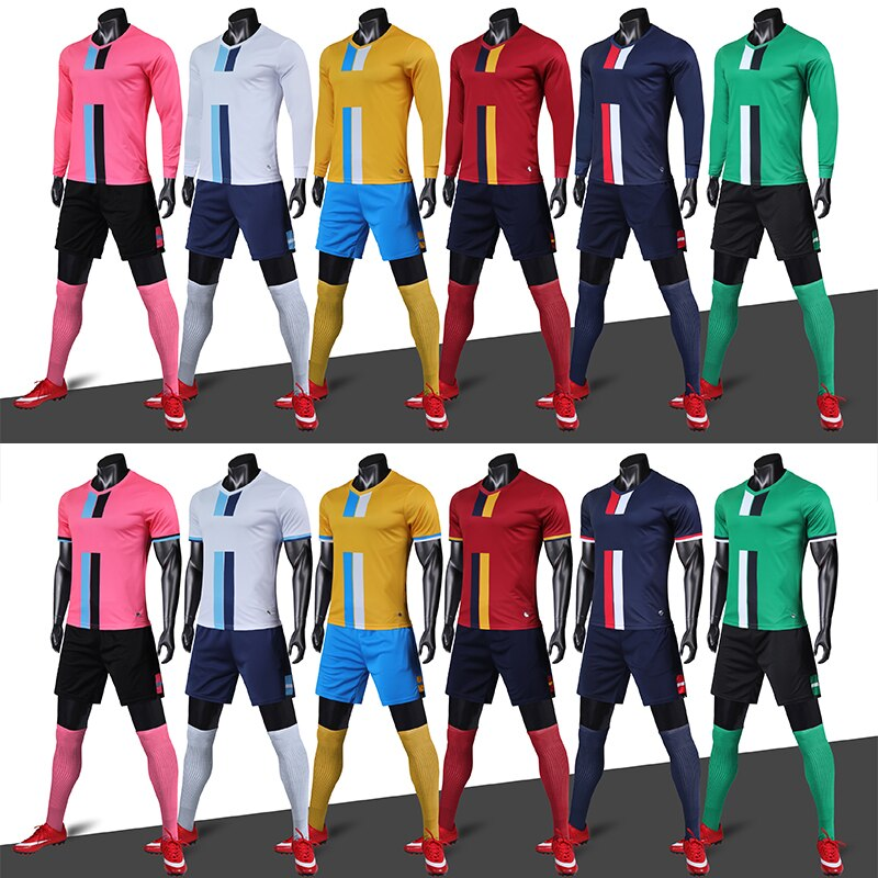 2020, camisetas de fútbol de manga larga para adultos Winner, conjuntos de camisetas de fútbol de manga corta, uniformes de fútbol para hombres, Jersey de chándal de fútbol