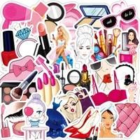 103050pcs pink girl makeup set lipstick perfume bottle motorcycle waterproof trolley case stickers decorative toys wholesale