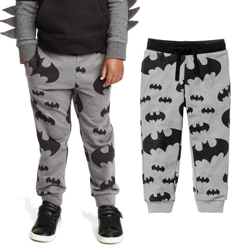 Детские штаны для маленьких мальчиков; повседневные штаны с принтом Бэтмена; детские спортивные штаны; детские брюки