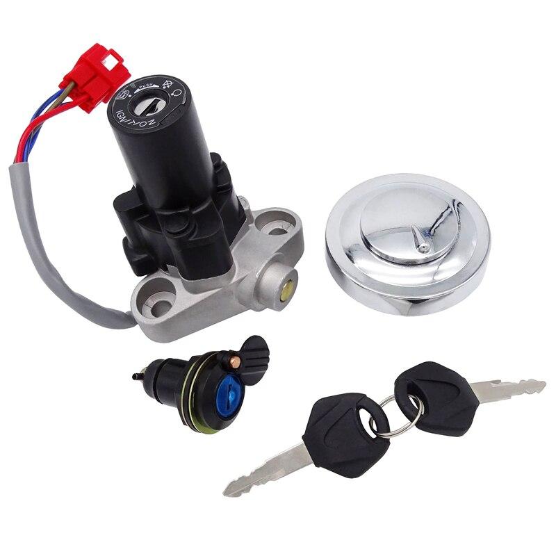 قفل مفتاح إشعال الدراجة النارية ، غطاء خزان الغاز ، مفتاح القفل لـ Yamaha XVS1100 XVS650 4TR-82021-00 4TR-82501-00 4TR-82501-01