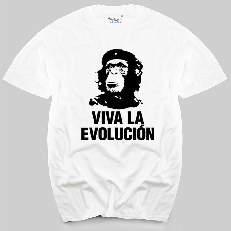 "Mens colours  ""Viva La Evolucion"" funny che guevara planet of apes style T Shirt"