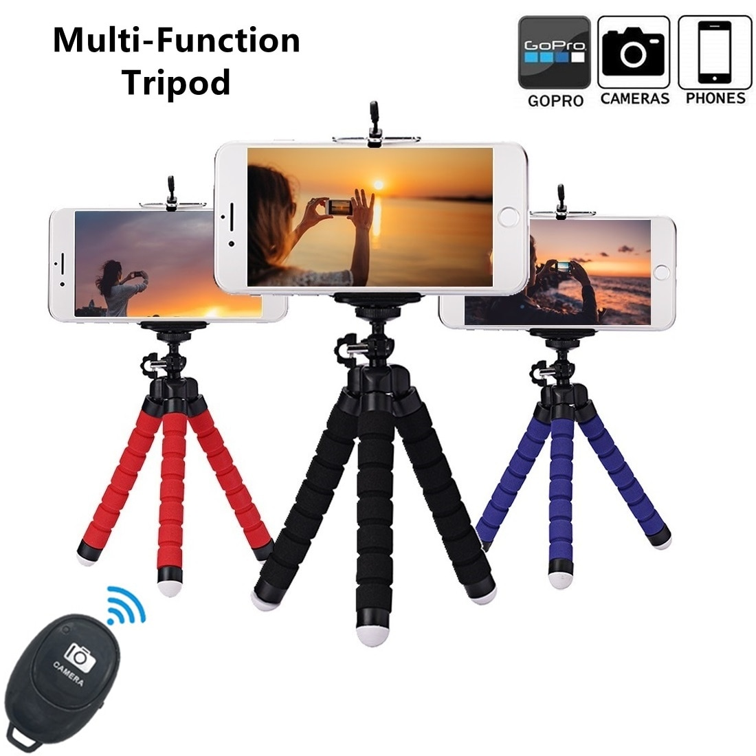 Mobile Phone Holder Mini Flexible Tripod Portable Selfie Stand Bendable With Remote Shutter For Xiao