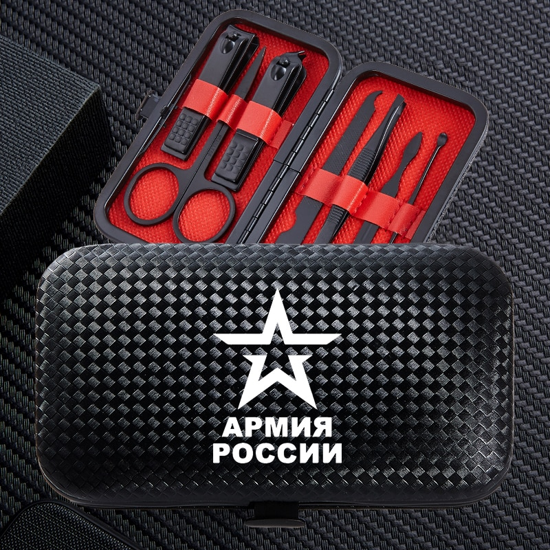 Acessórios para Mulheres Pçs de Aço Inoxidável Conjunto Clippers Prego Portátil Viagem Profissional Aparador Clipper Tesoura Cortador Masculinas 7