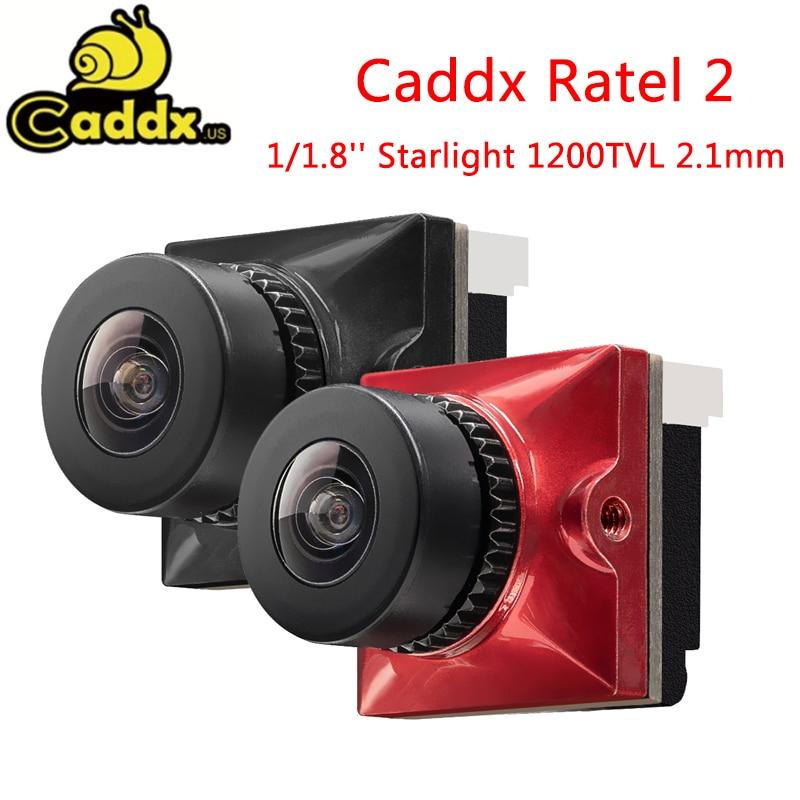 19*19 مللي متر Caddx Ratel 2 1/1.8 ''Starlight 1200TVL 2.1 مللي متر NTSC PAL 16:9 4:3 للتحويل سوبر WDR FPV كاميرا دقيقة لسباقات FPV