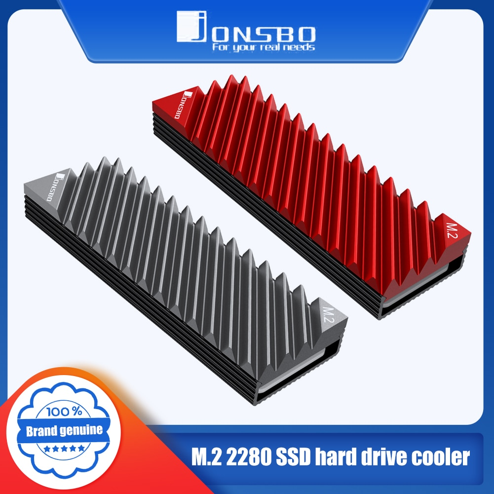 Jonsbo M.2 SSD NVMe Heat Sink M2 2280 Solid State Hard Disk Aluminum Heatsink with Thermal Pad Desktop PC Thermal Gasket