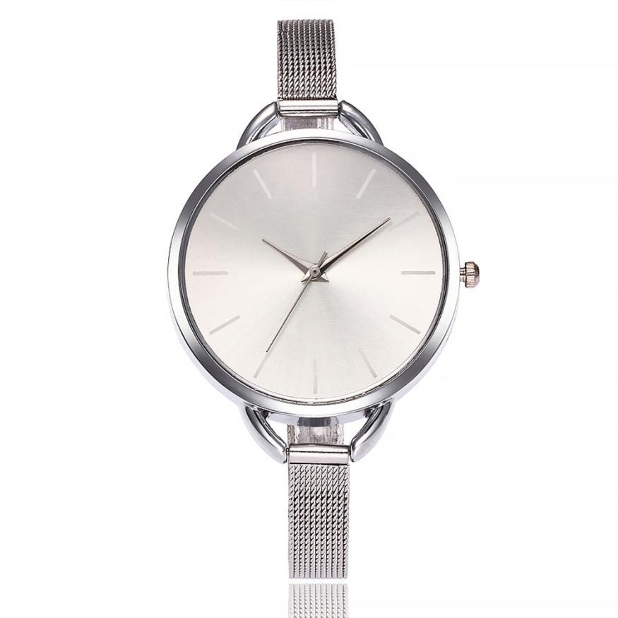 Women's Watches Luxury Elegant Ladies Stainless Steel Wrist Watch Female Clock Analog Quartz Round W