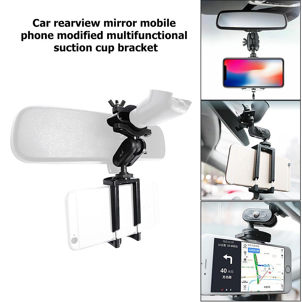 Soporte Universal de teléfono para coche montaje de espejo retrovisor soporte ajustable para teléfono móvil soporte de pantalla GPS accesorios de herramienta