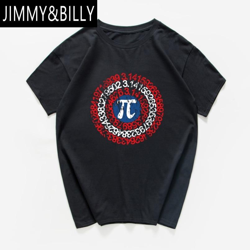 Pi Математика новинка футболка Для мужчин дышащие хлопковые свободные футболки футболка в стиле «гик» оправой уличная одежда Повседневное Для мужчин футболки