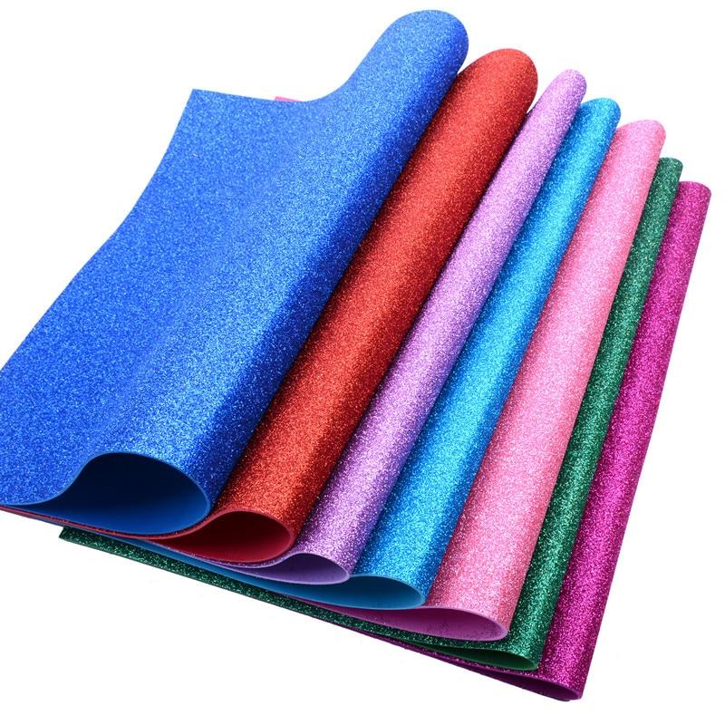 5pc/bag 50*50cm Sponge Glitter EVA Foam Fold Scrapbooking Scrapbook Wrapping Paper Cutters Crafts Sheet Punch Stamping DIY Decor