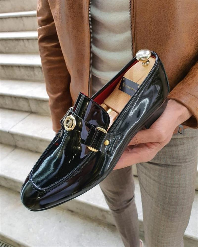 Men Shoes High Quality Pu Leather New Fashion Stylish Design Slip-on Shoes Casual Formal Basic Shoes