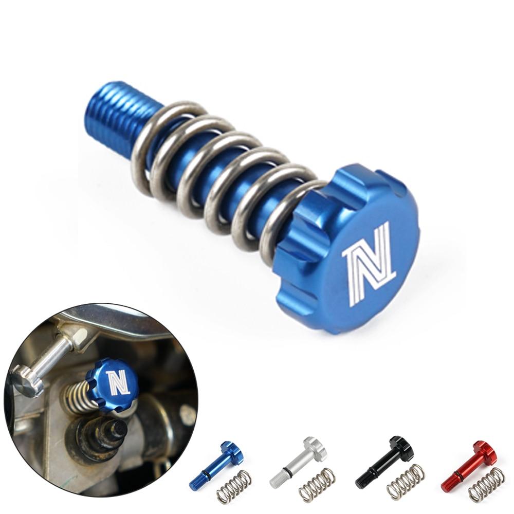 ATV Quda Idle Screw For Yamaha Raptor 700 Raptor 700R CNC Aluminum Carburetor Carb Throttle Idle Adjust Nut With Spring Parts