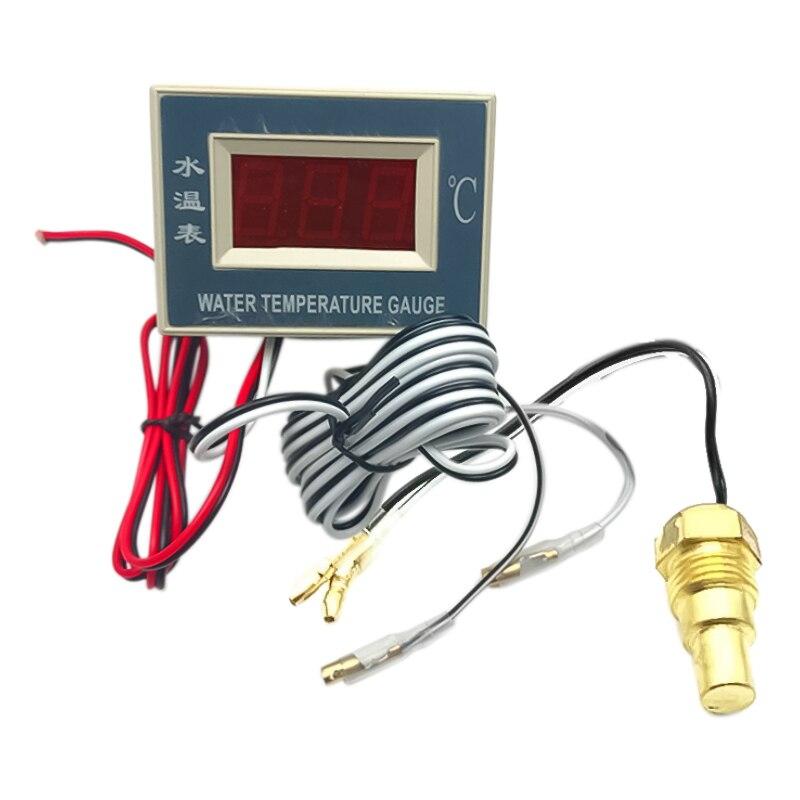 Excavator parts Electronic water temperature meter package Water temperature sensor Digital display