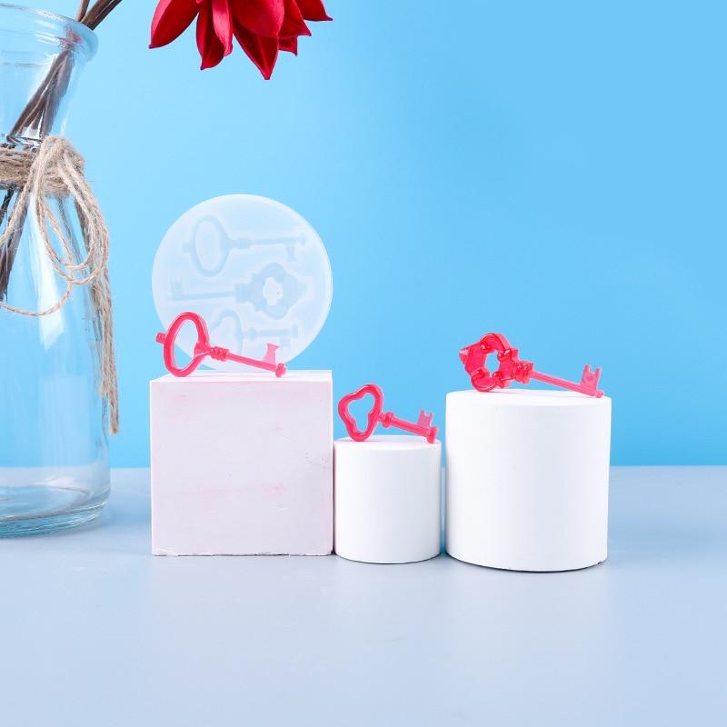 Keys Sugarcraft Cake Fondant Chocolate Silicon Mold Decoration Tools UV Reisn Jewelry Molds DIY Epoxy Resin