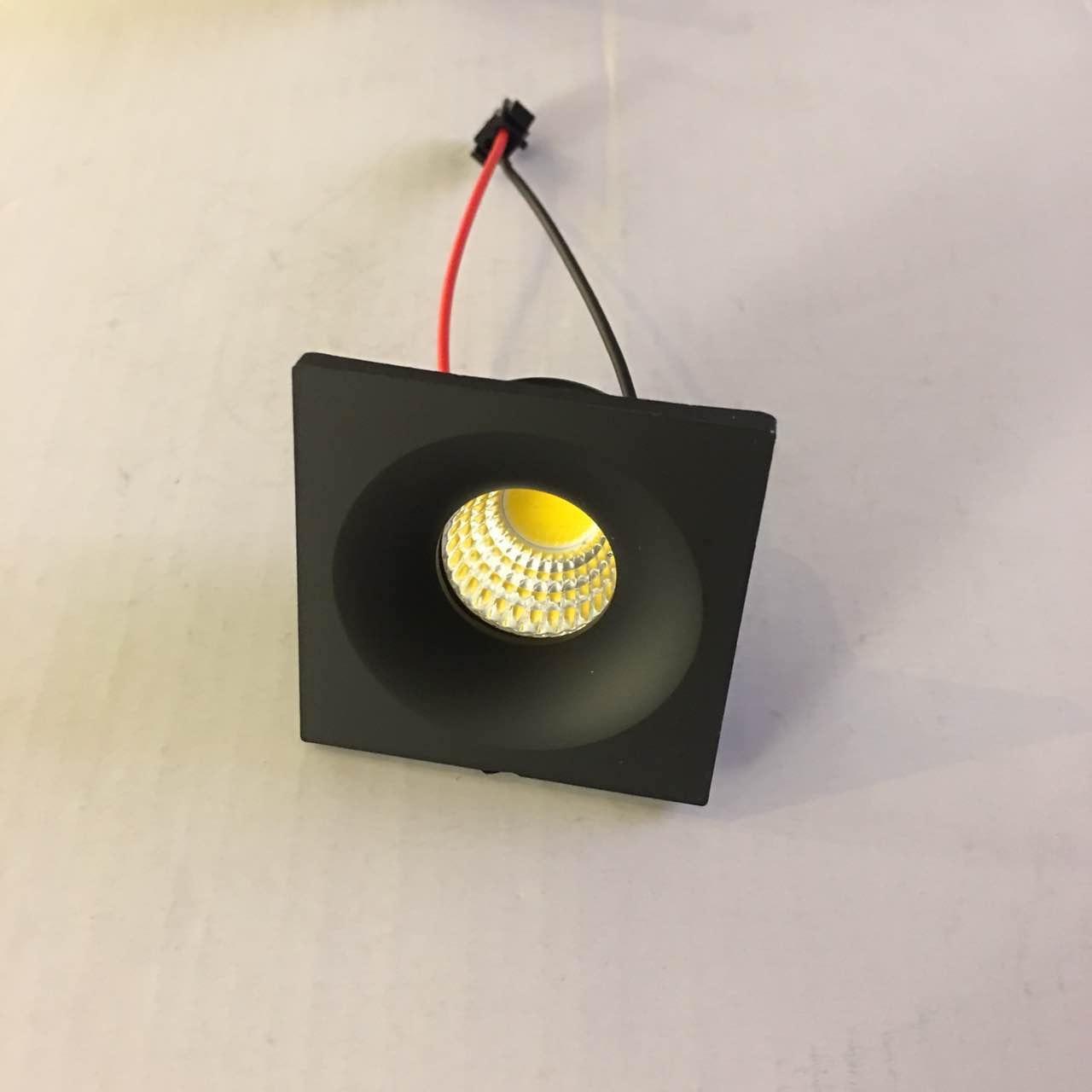 10pcs/lot Led Mini Cabinet Downlight 3w Diameter 40mm Dc12v Black Frame Recessed Ceiling No Flicker Spot Lights For Home