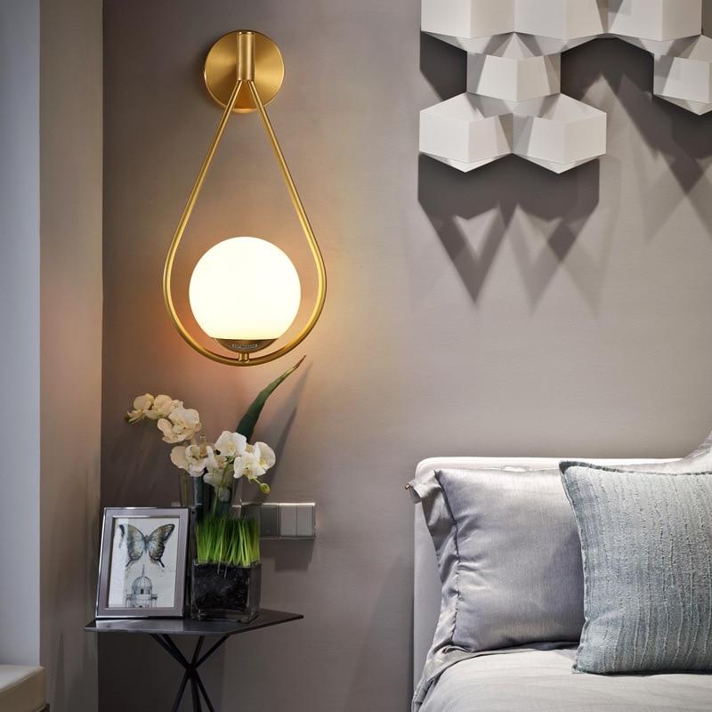 Vintage espejo madera ligera mesilla de noche sala comedor lampara pared cabecero de cama