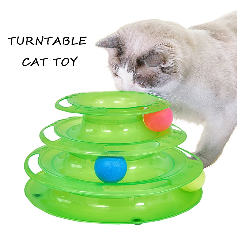 AliExpress - Three Levels Intelligence Toy for Cat Funny Cat Tower Puzzle Candy Color Grind Claws Amusement Ball Training Amusement Plate