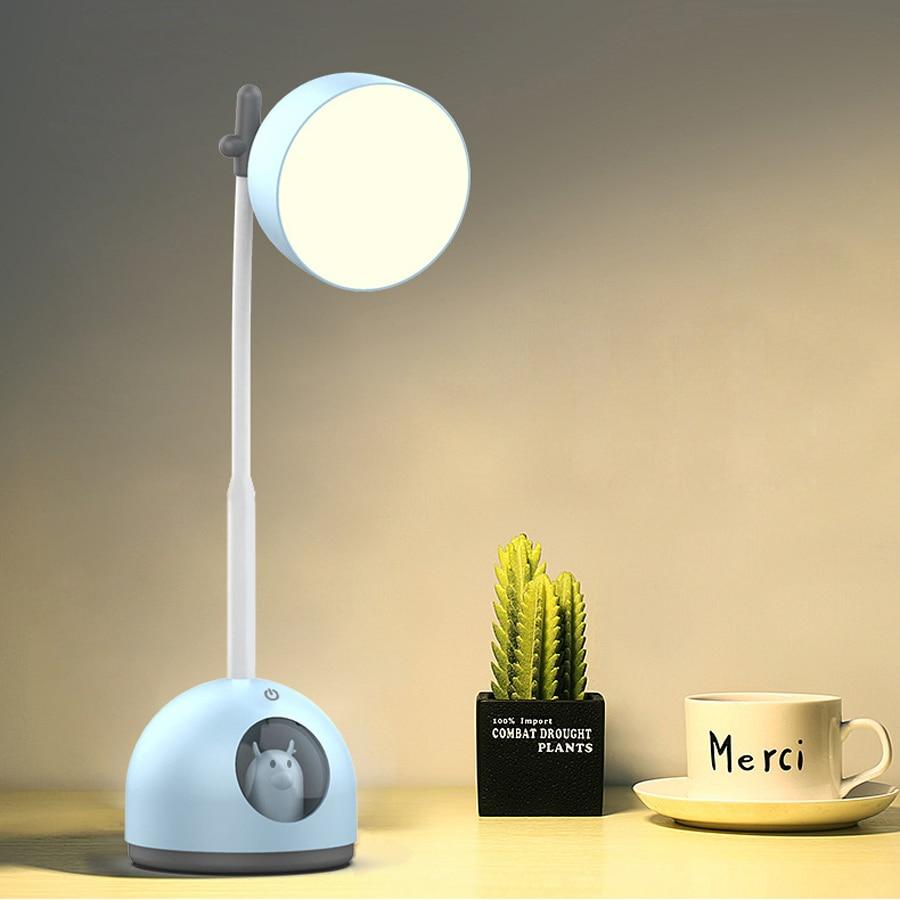 De dibujos animados lindo recargable 5v escritorio Usb lámparas lámpara Led para...