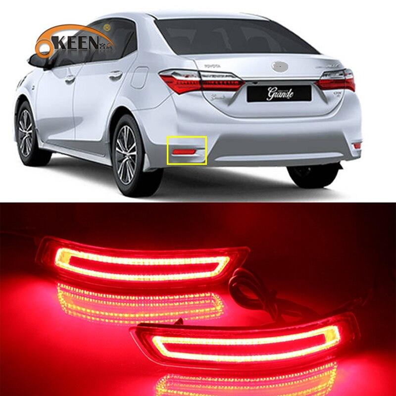 2 uds. Para Toyota Corolla 2014 2015 2016 2016 2017 2018 foco LED antiniebla trasero luz de freno señal de giro dinámica