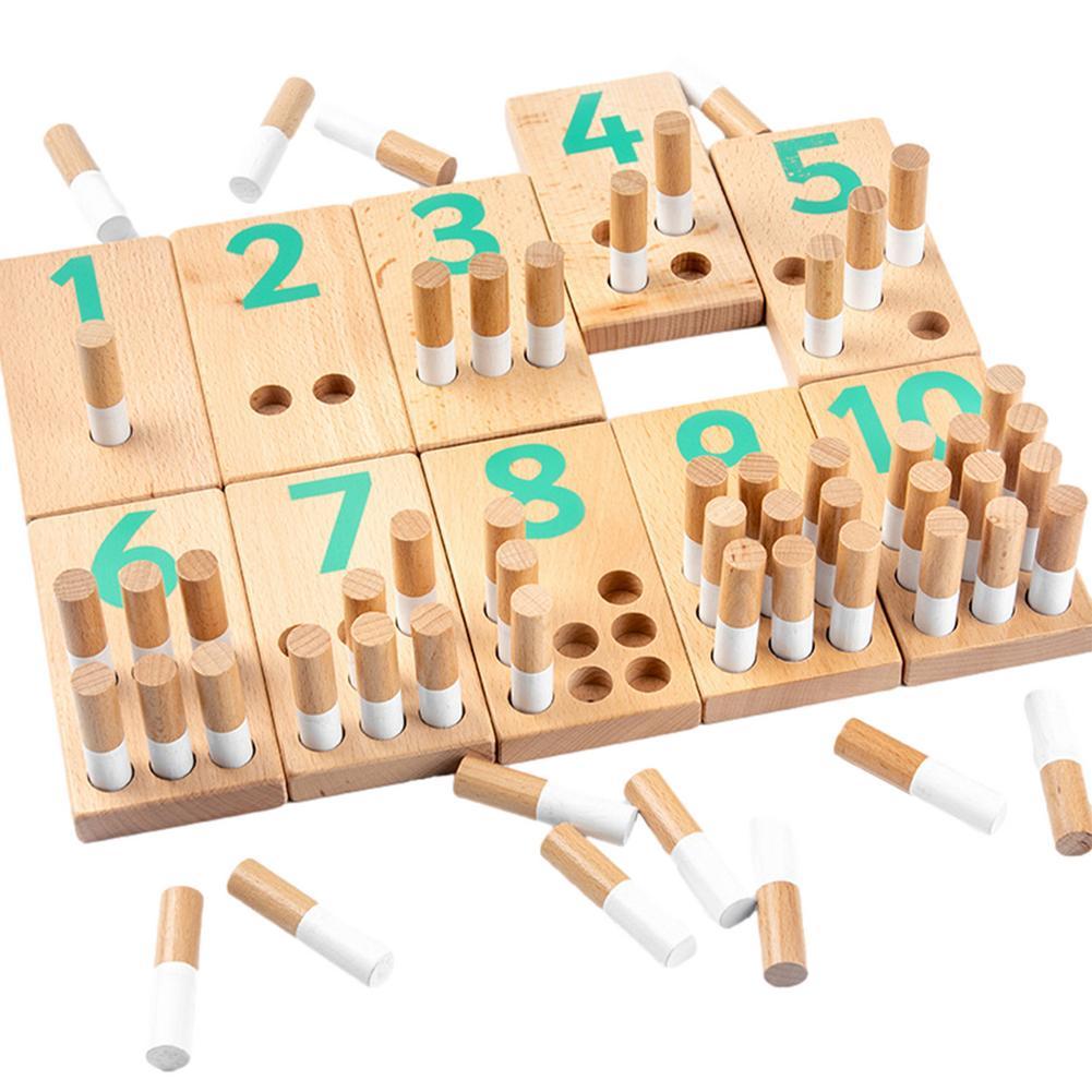 Новые деревянные математические игры и игрушки для обучения цифрам и подсчета, Обучающие игрушки, детские деревянные игрушки Монтессори дл...
