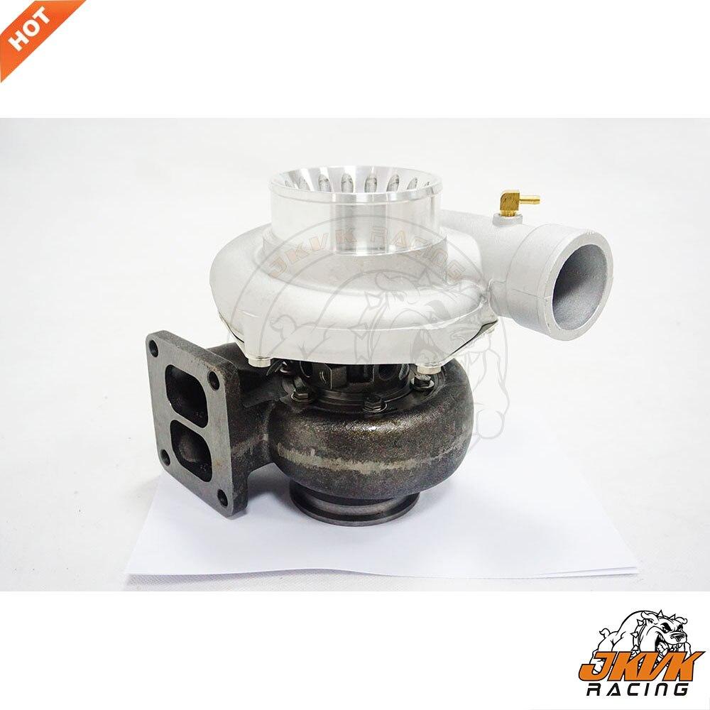 Jkvk racing gt35 t4 flange twin scroll anti-impulso turbo carga 3 v v v-band 500 + hp + óleo encaixe dreno turbocompressor