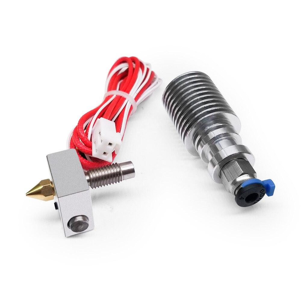 ملحقات طابعة ثلاثية الأبعاد 24 فولت تجميعها الطارد سبائك الألومنيوم Hotend استبدال أجزاء مجموعة للطابعة Creality ثلاثية الأبعاد CR10-V2