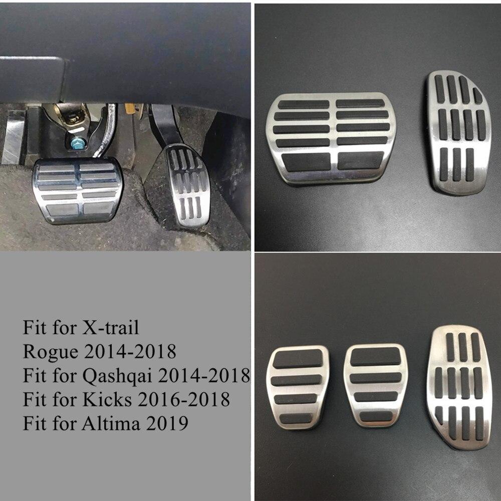 Para Nissan Qashqai J11 2014-2018 X-Trail Rogue T32 patadas Altima 2019 Micra K14 de combustible de Gas Pedal de freno Pad Kit placa de ajuste