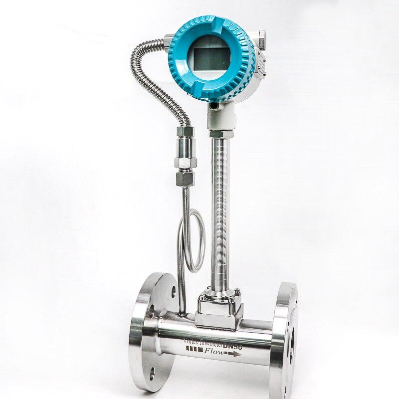 1.0% medidores de fluxo da inserção da precisão compensação do ar 4 20 20 medidores de fluxo do vórtice do gás de 4 ma ma