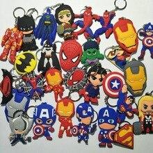 Avengers Marvel Thor cosplay PVC keychain Deadpool Wonder Woman Captain America pendant Jewelry Accessory Chaveiro Llaveros gift