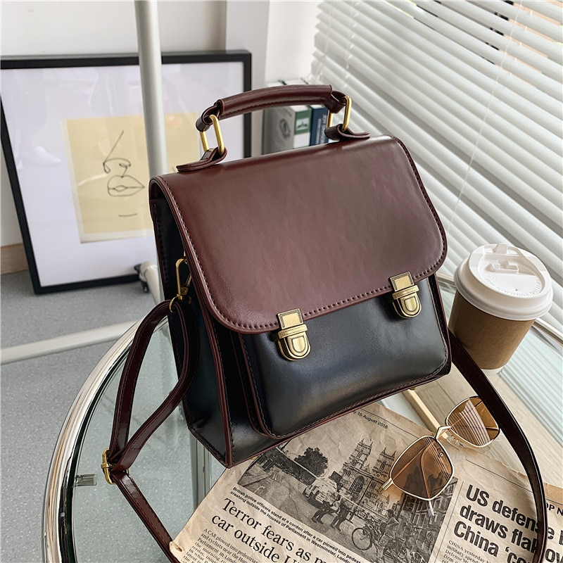 2021 New Small Vintage Leather Backpack Female For Girls Women Sac A Dos Bagpack Rukzak Mochila Feminina Rucksack Korean Style