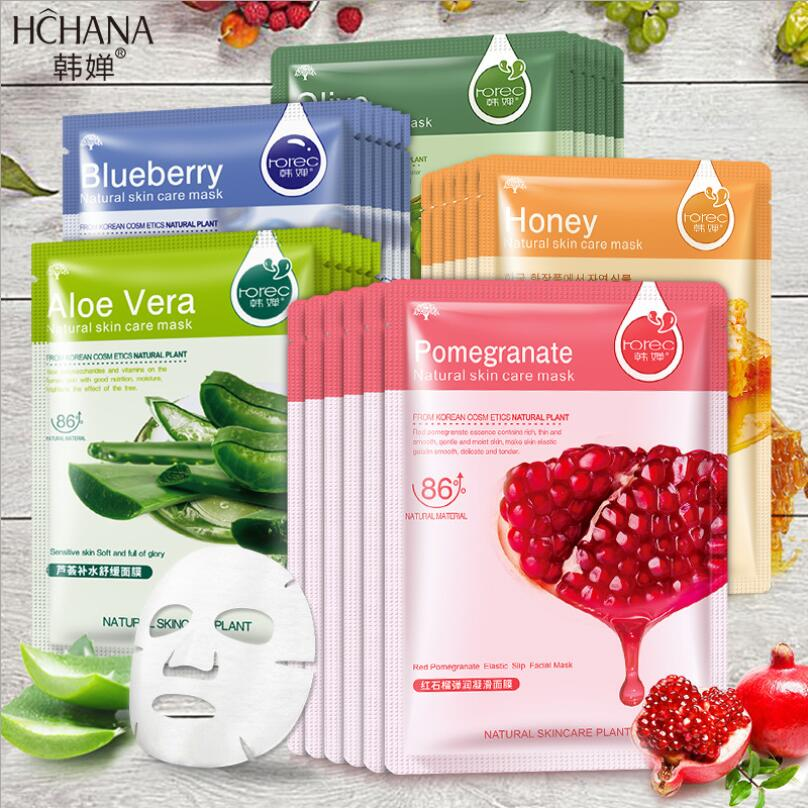110PCS/Lot BIOAQUA Facial Mask Natural Fruit Plant Sheet Mask Moisturizing Hydrating Cucumber Aloe Oil-Control Beauty Skin Care