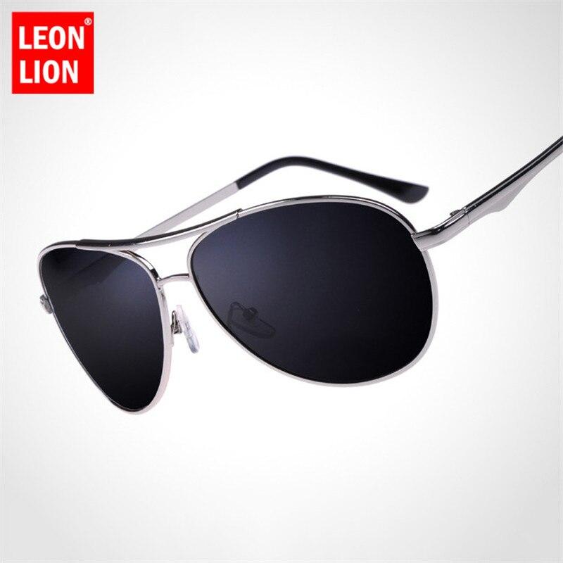 Leonlion óculos de sol polarizados dos homens do vintage marca designer óculos de sol polarizados