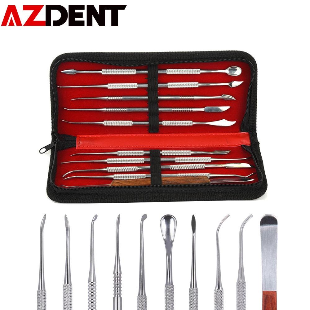 1 set Wax Carving Tool Stainless Steel Dental Sculpture Instrument Versatile Kit for Dental Lab Equi