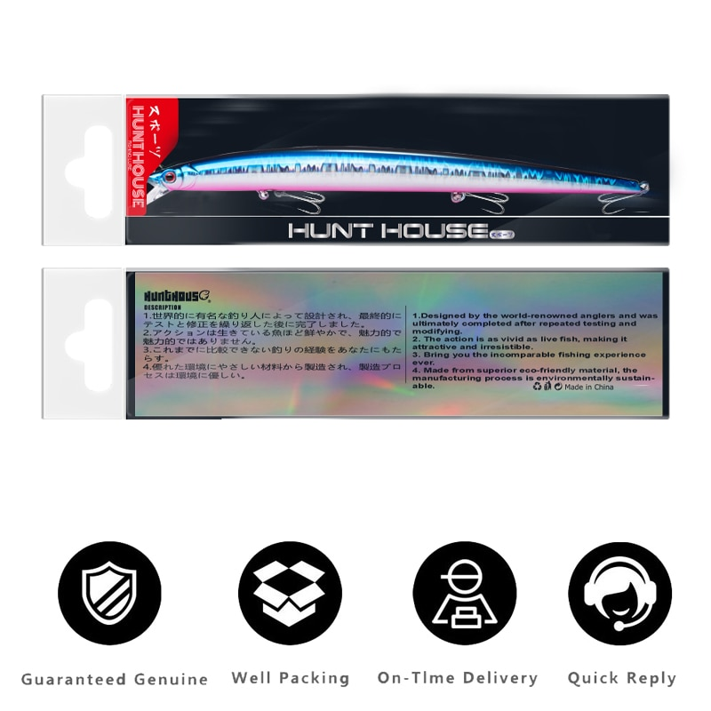 Hunthouse Mommotti Minnow Floating Fishing Lure 210mm 34g lw405 Sea Bass Fishing Tackle Long casting Saltwater hard bait lures enlarge