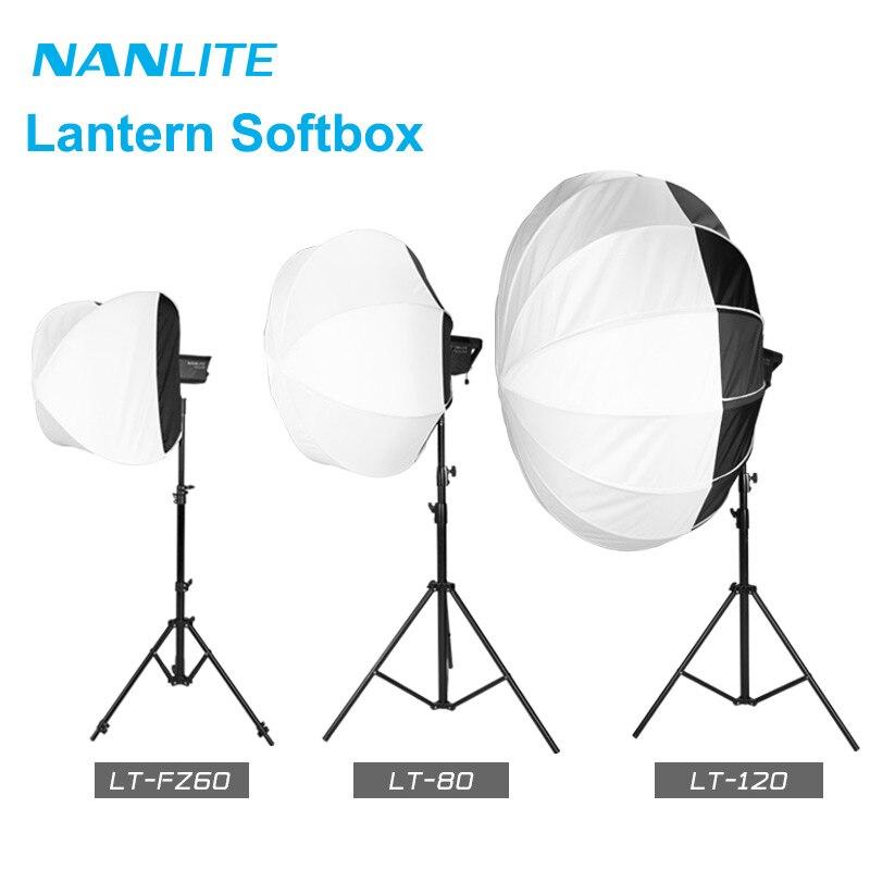 Nanlite LT-FZ60 LT-80 LT-120 فانوس Softbox بوينس جبل ل فورزا 60 60B 200W 300 500 التصوير إكسسوارات مضيئة لينة مربع