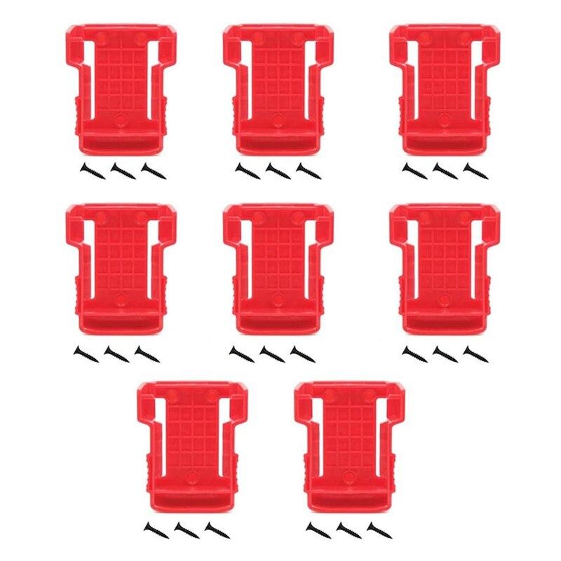 8 قطعة 18 فولت البطارية يتصاعد تخزين حامل الرف فتحات حامل البطارية قوس فتحات ل Milwauke M18