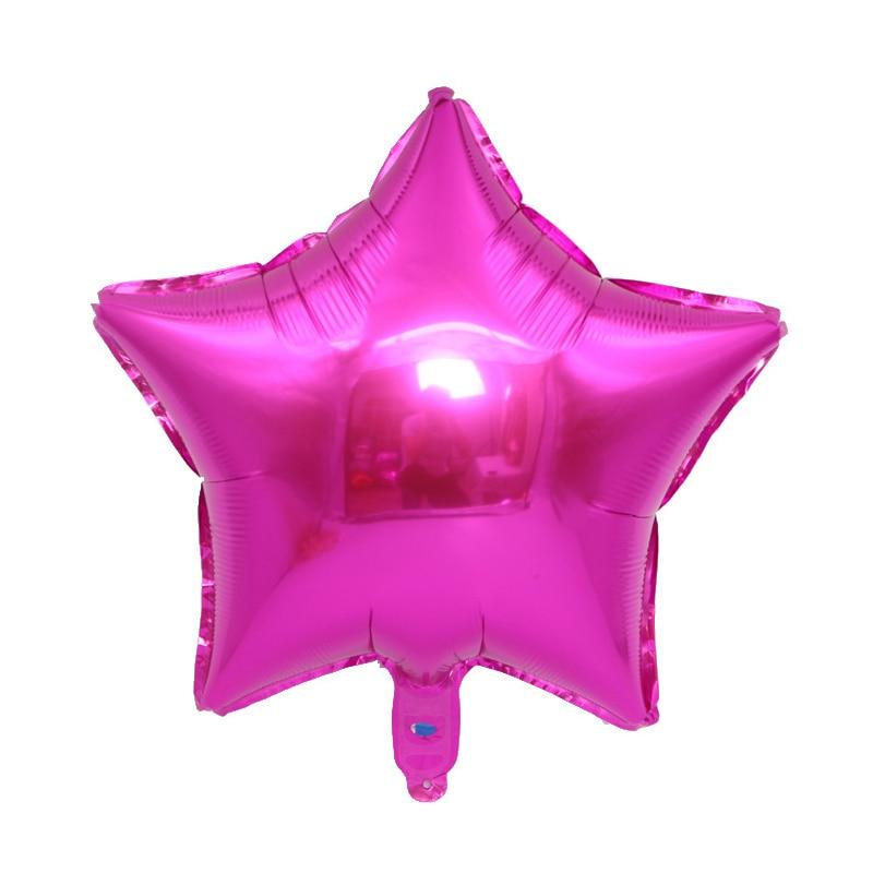 5 inch mini five-pointed star balloon children toy hydrogen balloon birthday party wedding atmosphere aluminum foil balloon