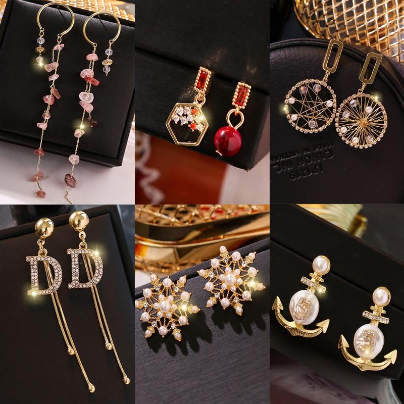 Tassel Earrings NEW luxury drop  jewelry earrings Fashion collocation acrylic big for women 2019 statement