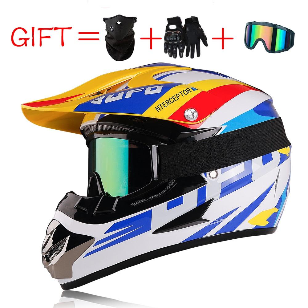 Casco de Moto de carreras todoterreno, Casco de Moto de Motocross de cara completa, Casco Vintage para Moto