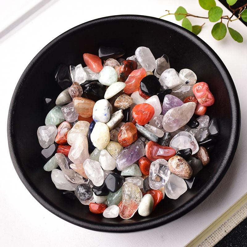 50g/100g Natural crystal Gravel Specimen Rose Quartz Amethyst Home Decor Colorful for aquarium Healing Energy Stone Rock Mineral