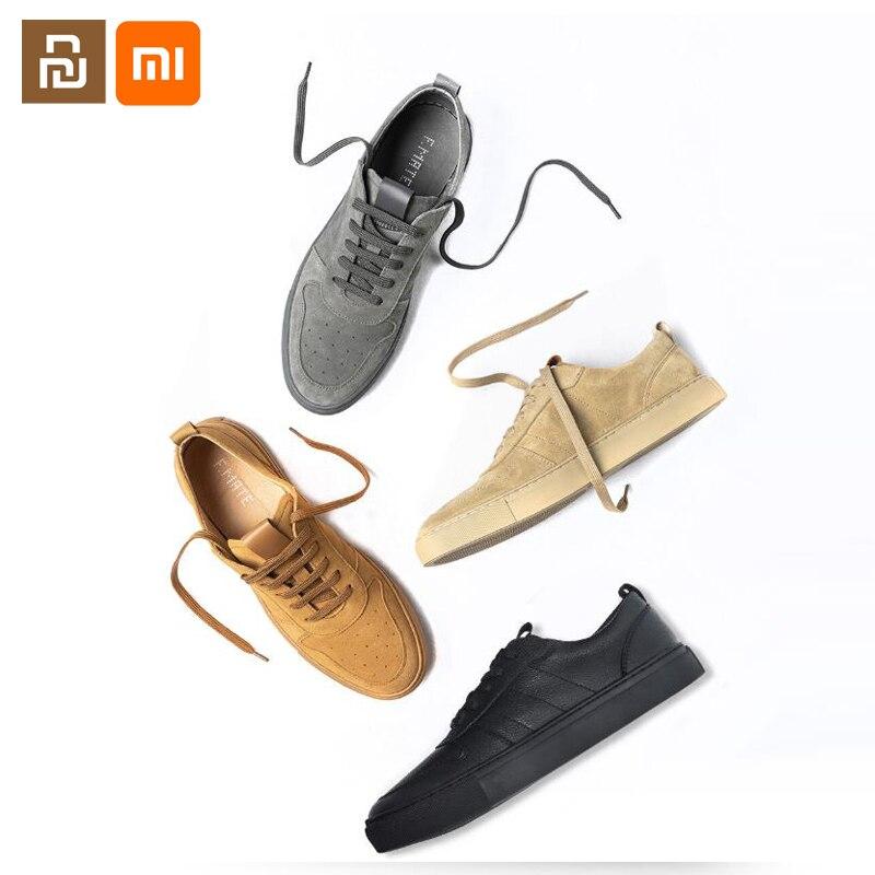Xiaomi mijia-أحذية جلدية يدوية للرجال ، أحذية جلدية عالية الجودة ، مريحة ومتعددة الاستخدامات