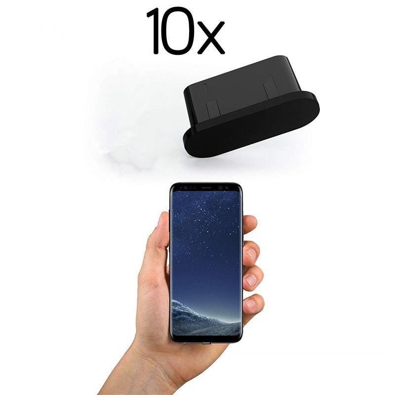 10 шт., силиконовые Заглушки для зарядки с USB Type-C-0