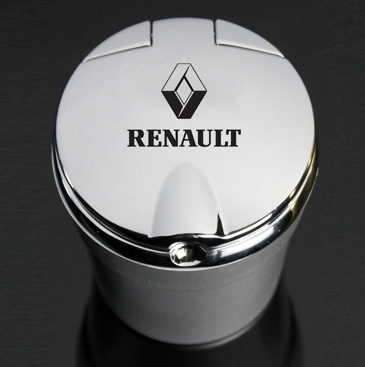 AliExpress - For Renault TALISMAN CAPTUR Espace Clio Megane Koleos Car Ashtray With Led Lights With Logo Creative Personality Car Supplies