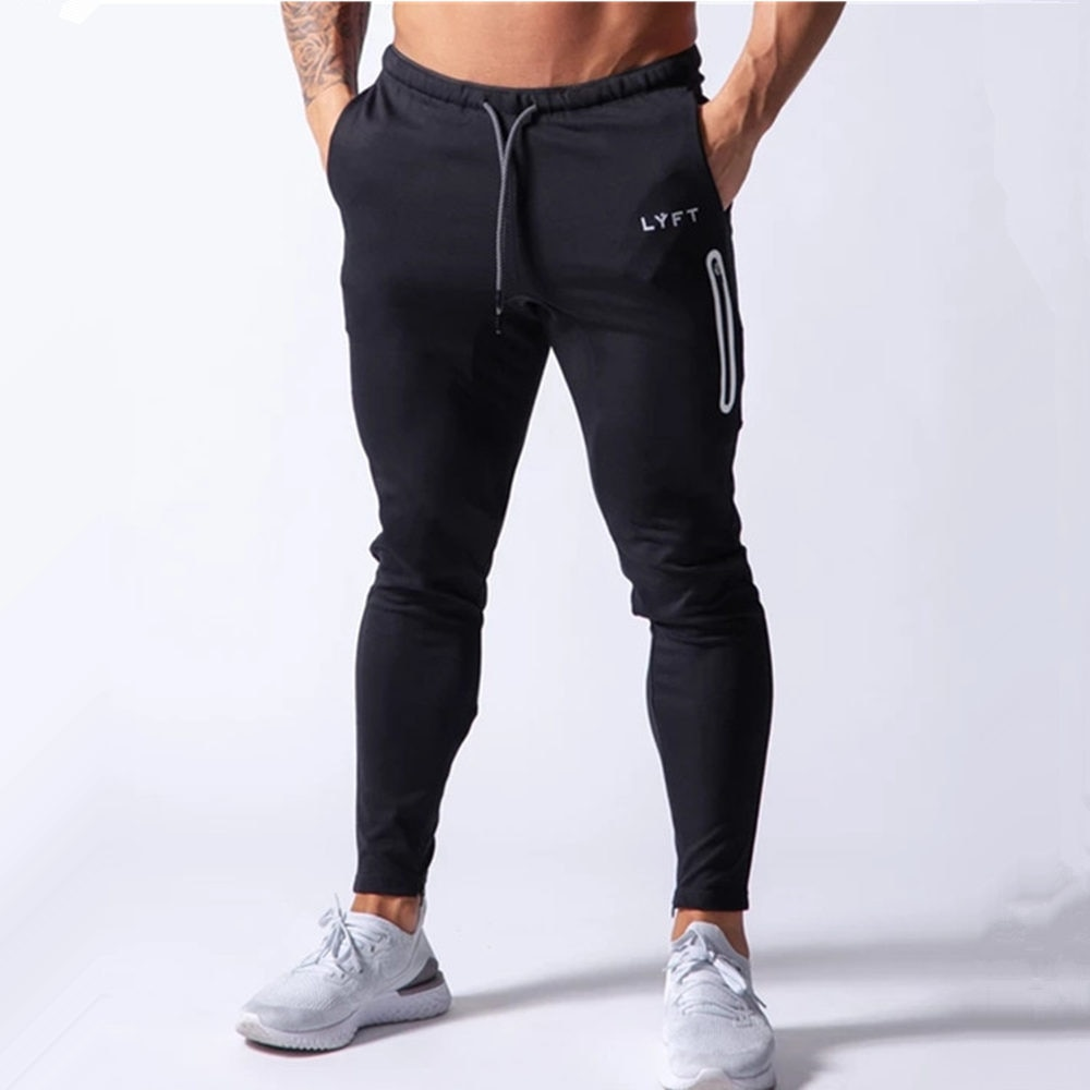 Autumn Casual Joggers Pants Men Slim Sweatpants Gym Clothing Fitness Workout Black Trousers Male Running Sport Cotton Trackpants