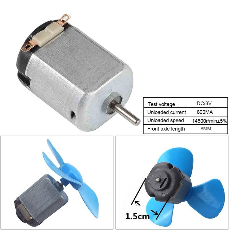 1pc dc motor 3v 14500r/min mini motor elétrico de carbono mini motor elétrico para controle remoto brinquedo carro robô estudante classe laboratório
