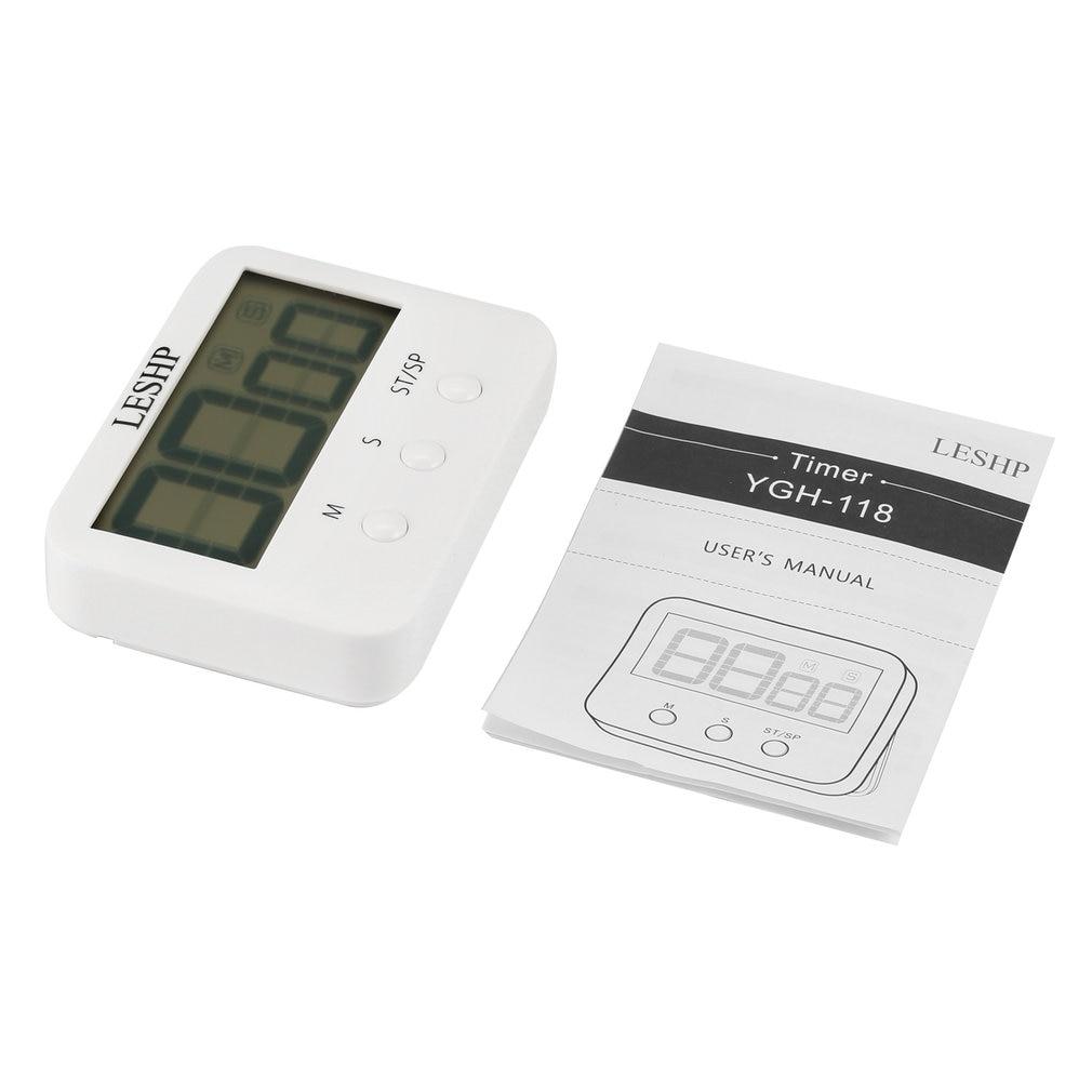LESHP temporizador de cocina alto temporizador de Cuenta regresiva con magnético grande pantalla de las agujas del reloj, la función de operación Simple compacto