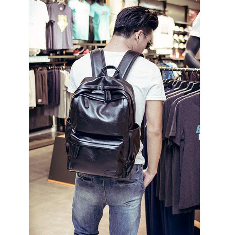 Мужской водонепроницаемый рюкзак для ноутбука 2021, мужские кожаные рюкзаки для подростков, дорожные повседневные Рюкзаки