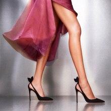 Femmes talons hauts printemps automne pointu Stiletto noir rouge Sexy robe pompes célébrité solide évider papillon noeud conception