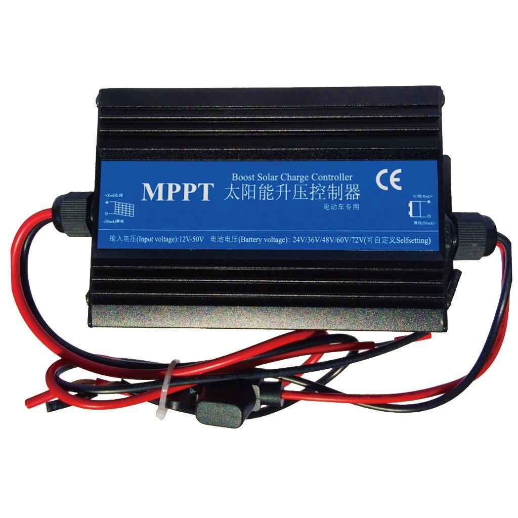 MPPT controlador de carga Solar Boost paso cargador 24/36/48/60/72V de voltaje de carga de la batería Regulador Medidor de corriente