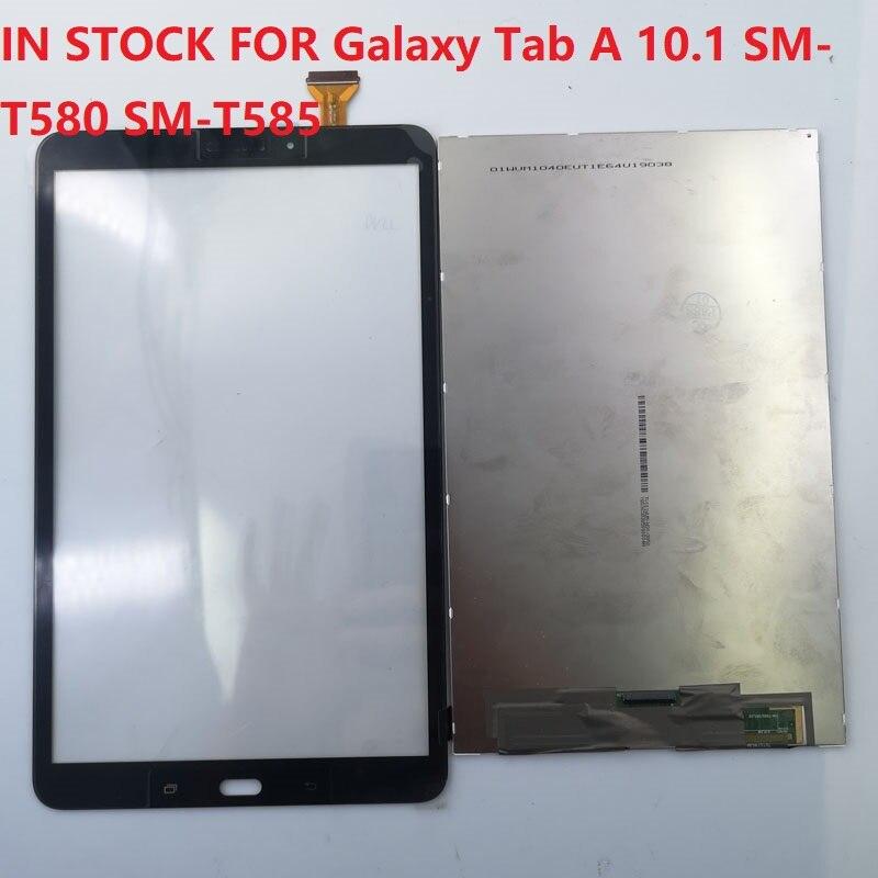 Tela de Lcd e Toque para Samsung Lcd e Display Galaxy Sm-t585 Tela Toque Digitador Assembléia Substituição Tab um 10.1 Sm-t580