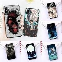attack on titan phone case for iphone 11 12 mini pro xs max 8 7 6 6s plus x 5s se 2020 xr